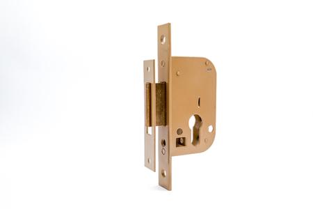 door handle: security lock with cylinder and key door handle