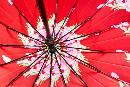 motive: an open umbrella in close up with motive