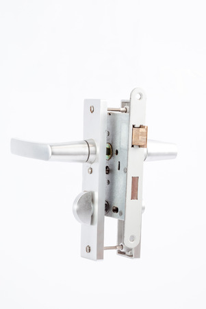 lock and key: Security lock with cylinder and key door handle