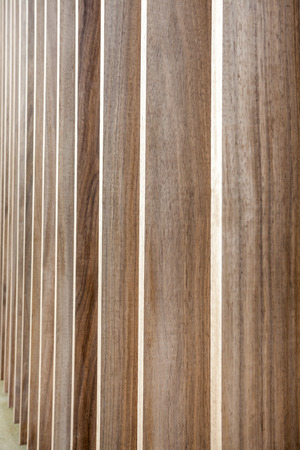 unpainted: The wall is lined with unpainted wood Stock Photo