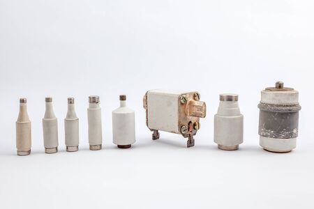 fuse: with an white background there are several old fuse