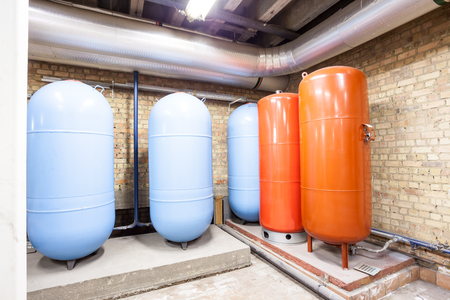 expansion: in the basement there are five major expansion boilers