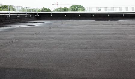 płaskim dachu z dachów i ogrodzeń Zdjęcie Seryjne