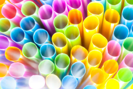 Abstract straws to lie down with different colors Stock Photo