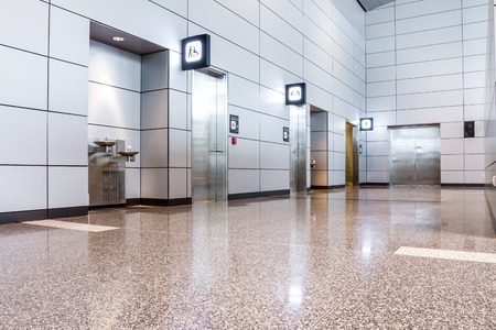 public building: In an public building are womans toilets whit black doors