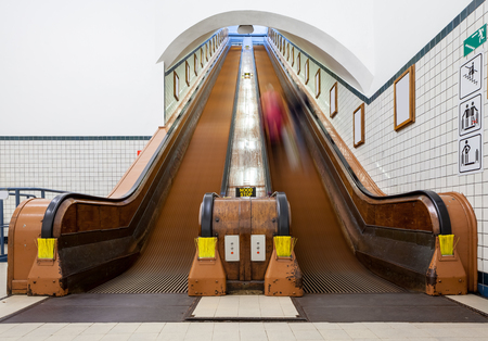 peron: at the station have several wooden escalators for each peron