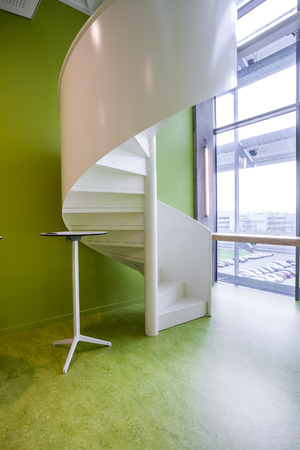 spiral staircase: in an new building is located this beautiful spiral staircase