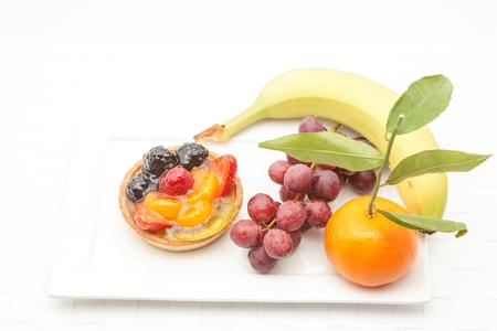 gelatina: en un plato de deliciosa tarta de frutas