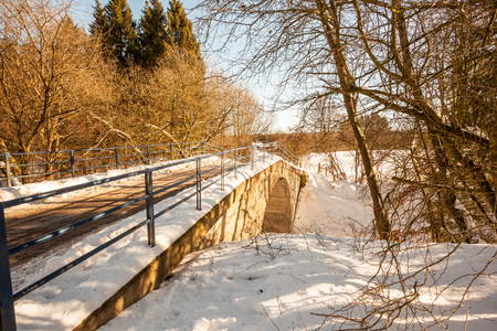 missouri: in the Walloon Ardennes longest road there is a bridge in the snow