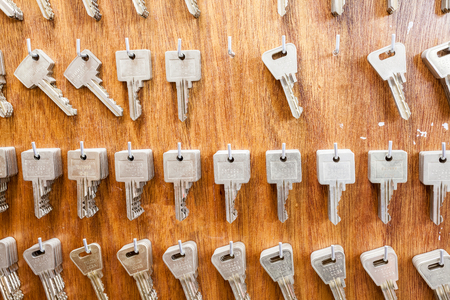 to several hooks hang there are several keys