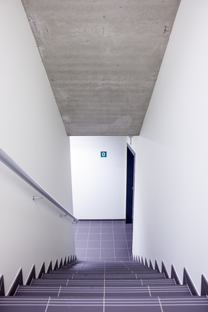corridors: in a modern building is there an beautiful staircase Stock Photo