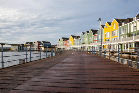 In the town of Houten, these beautifully painted houses are on the water