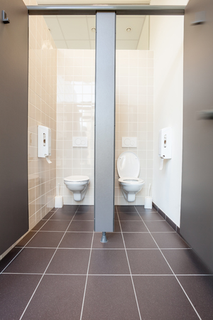 Photo of a clean public toilet