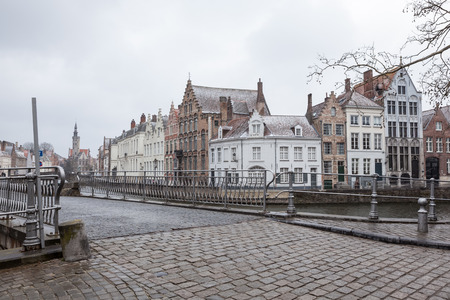 By the water in the city of Bruges