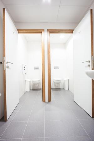 In an public building are womans toilets whit sinks Zdjęcie Seryjne