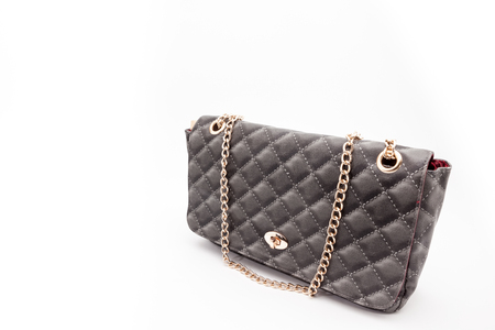 this beautiful handbag is made for the women on a white background Stock fotó