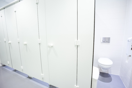 In an public building are womans toilets doors