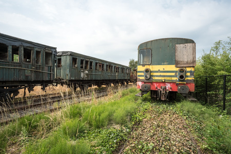 if a train is discarded, hin ends up in a train graveyard