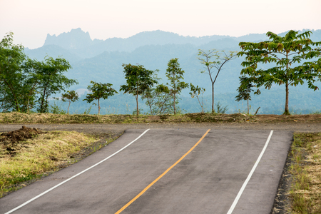 this road stops at the top of the mountain in Mae Sot Thailand