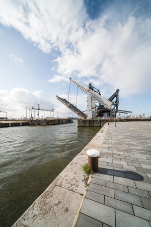 This beautiful drawbridge is located in the port of Antwerp