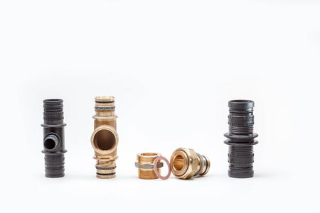switch or connection pieces for water pipes as well as potable water and heating