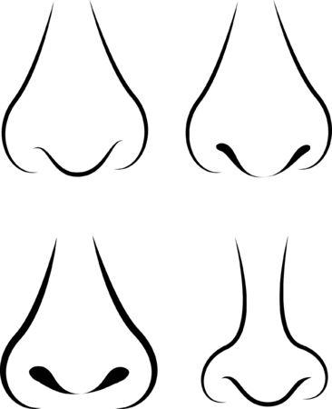 four different nose in illustator