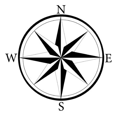 Compass vector icon. Compass icon for web and app. Compass sign on white background