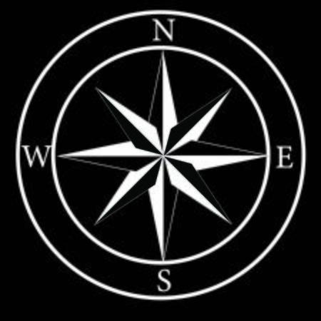compass simple black icon. Vector illustration Ilustracje wektorowe