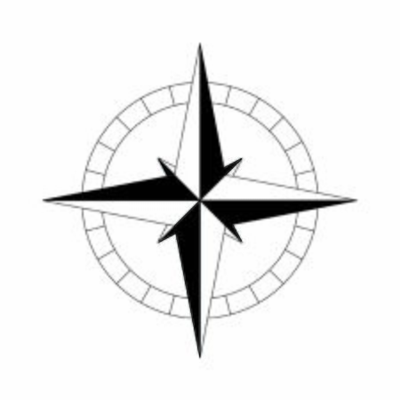 kompas prosty czarny ikona. Ilustracja wektorowa Ilustracje wektorowe