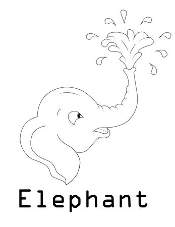 elephant silhouette graphics disign Illustration
