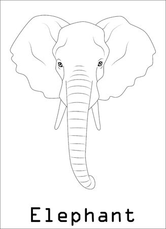 elephant silhouette graphics disign Illustration