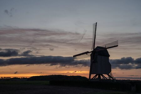 This old windmill (Tissenhovemolen) is located in the national park in the Flemish Ardennes Stock fotó