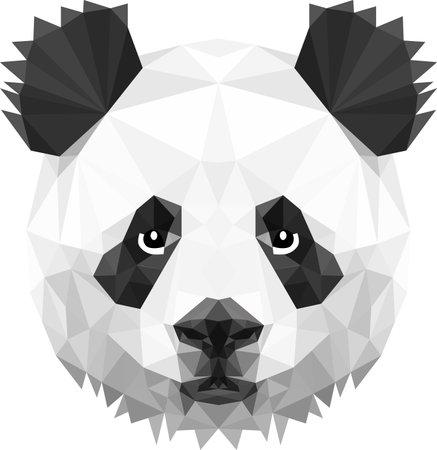 Panda head in triangle spots, so cute everyone loves