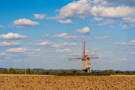 This old windmill (Vinkemolen) is located in the national park in the Flemish Ardennes