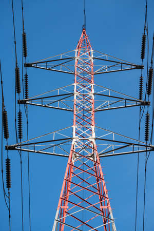 this high voltage electrical pole is located in the port area