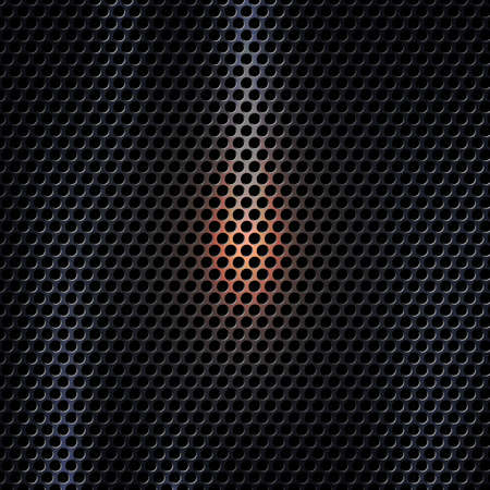 Vector 3D Dark metal texture background with light effect