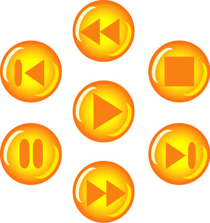 audio player: few buttons for audio player Illustration