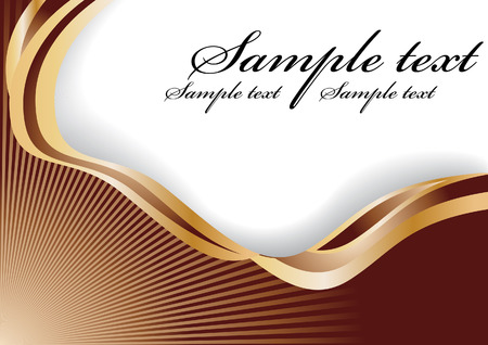 abstract chocolate wave; clip-art Vector