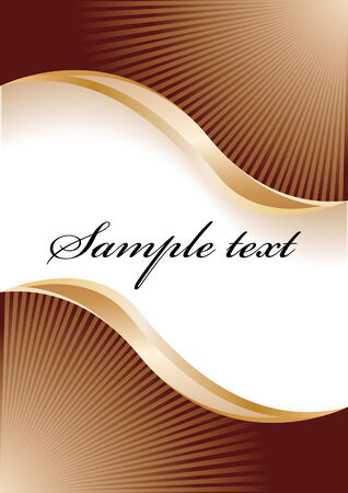 abstract chocolate background; clip-art Stock Vector - 4349588