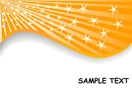 background from star; clip-art Vector