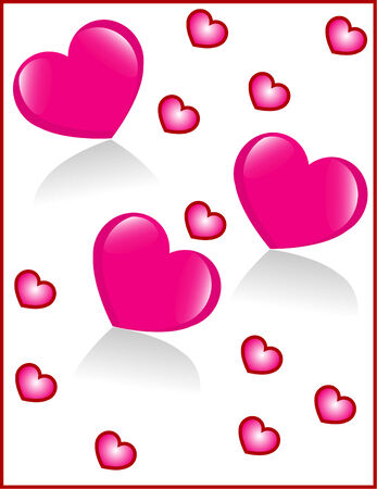 few: background from few pink hearts