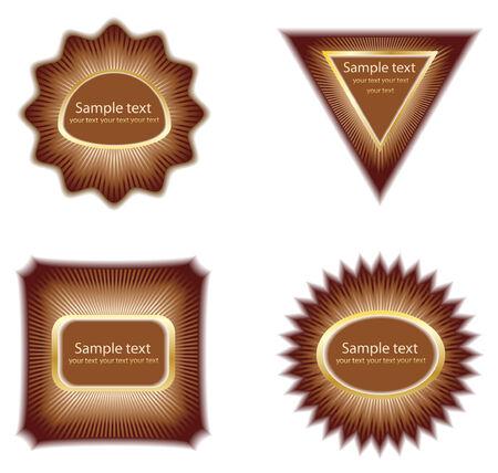 few: few label; clip-art, vector