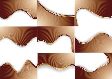 vector collection chocolate background; clip-art Vector