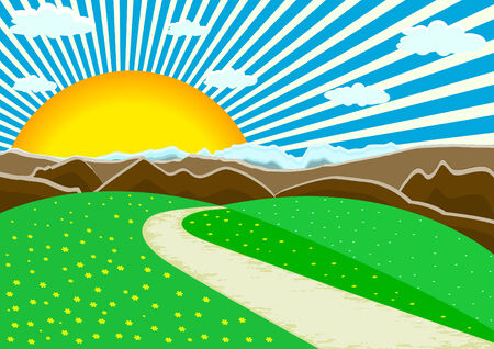 vector landscape mountains; clip-art Vector