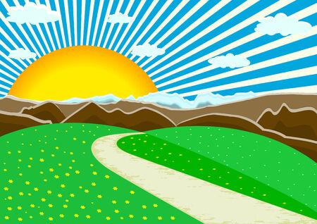 vector landscape mountains; clip-art Stock Vector - 4568209