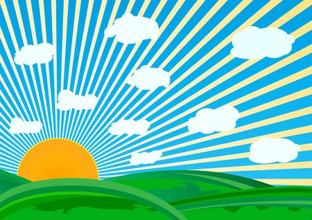 vector sunny day; clip-art Stock Vector - 4568207