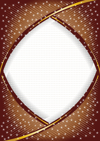 vector chocolate background with star; clip-art Vector