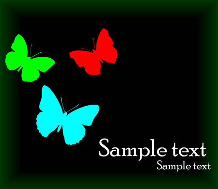 vector background with butterfly; clip-art Vector