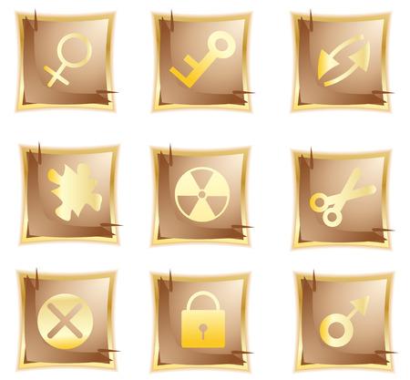 vector original gold icon; clip-art Vector