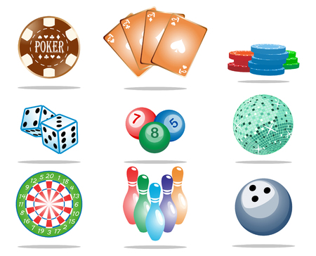 game icon set; clip-art Vector